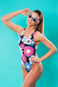 FLOWER BEE ONE-PIECE SWIMSUIT