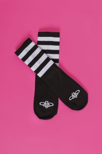 Cycling socks - BLACK&WHITE BEE